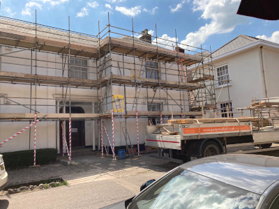 parker scaffold working in taunton somerset area access for decoration
